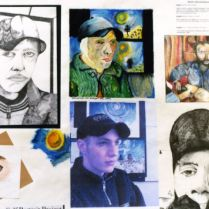 Ben's Studies for Homage to Van Goch