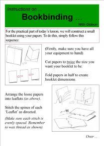 Bookbinding Leaflet 2