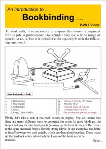 Bookbinding Leaflet 1