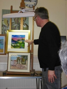 Guest Critic Gideon Hall at the South Wales Art Society (Jan 2017)