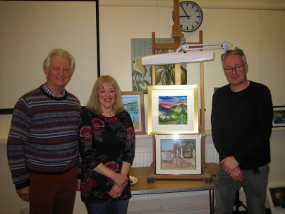 Winners Brian Kemp and Pam Gilbert with Guest Critic Gideon Hall (3rd Jan 2017)