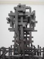 Detail of figure by Antony Gormley