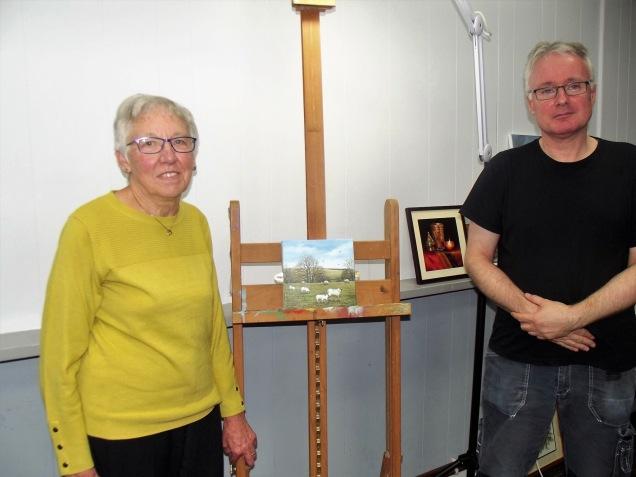 Anita Raymond & I and her winning painting